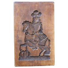 Large Antique Gingerbread or Springerle Cookie Mold, Dutch or German Folk Art