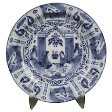 A Dutch Delft Chinoiserie Charger, circa 1700