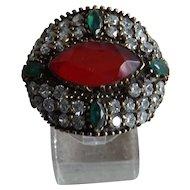 Vintage mixed metals ring