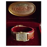 Longines wrist watch 50s 14 karat gold