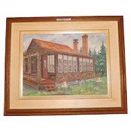 Francois Faucher oil on canvas Canadian cottage