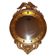 Federal style convex mirror with eagle