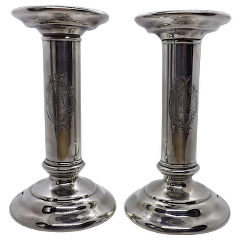 Tiffany Makers candlesticks 1902-1907 sterling