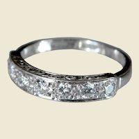 18kt White Gold Half Eternity 0.56ct Diamond Ring