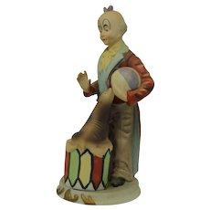 Vintage Mid-Century Porcelain Clown with Seal