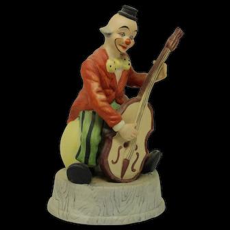 Vintage Porcelain Clown with Cello