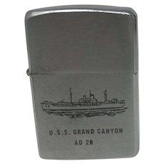 ZIPPO Lighter.  U.S.S. Grand Canyon AD 28