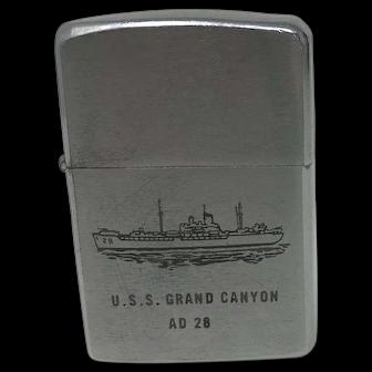 ZIPPO Lighter.  U.S.S. Grand Canyon AD 28