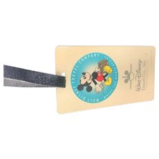 Disney Luggage Tag 1970's