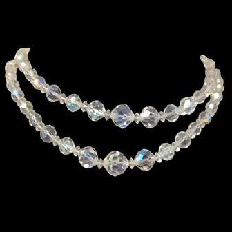 Aurora Crystal Necklace circa 1950s