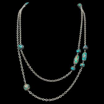 Unique Chain Necklace circa 1950s/1960s