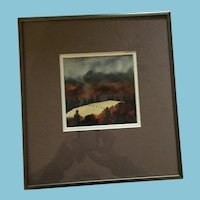 1996 Original Watercolor 'October Pastures' signed by Jerald Murray Spicer