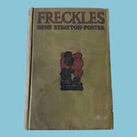 1904 First Edition 'Freckles' Hardcover Book by Gene Stratton-Porter
