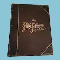 1875 Leather Bound Hard Cover First Edition 'The Art Journal'