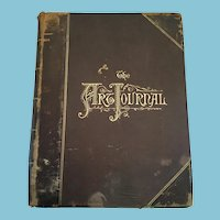 1877 Leather Bound First Edition 'The Art Journal'