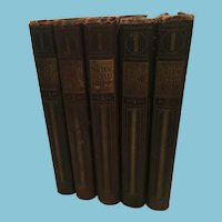 1907 Five Volume First Edition Set of 'Practical Coal Mining' Hardcover Books