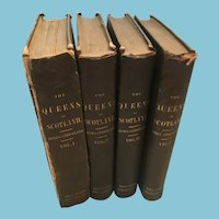 1851 Four Volumes 'Lives of the Queens of Scotland' by Agnes Strickland