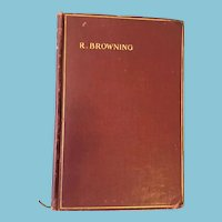 1928 'The Poems of Robert Browning' Hard Cover Book