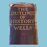 1922 'The Outline of History' with Autographed Photo by H.G. Wells