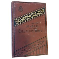 1890 'Salvation Soldiery' Salvation Army Hard Cover Book