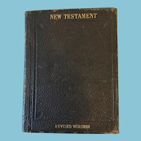 1881 'New Testament' Revised Edition, Leather Covered Bible