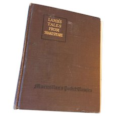 1917 'Lambs' Tales from Shakespeare' Hard Cover Book