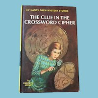 1967 Nancy Drew Volume Forty-Four 'The Clue in the Crossword Cipher'