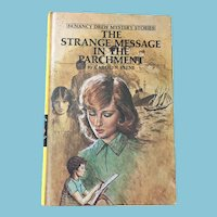 1977 Nancy Drew Volume Fifty-Four 'The Strange Message in the Parchment'
