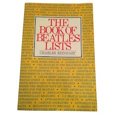 1985 'The Book of Beatles Lists' (First Edition) Softcover Book by Charles Reinhart