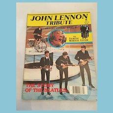 1980 'John Lennon Tribute'  Premier Memorial Edition Magazine