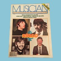 February 1982 'Musician Player and Listener Magazine' with Ringo Interview