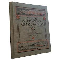 1922 J.W. Gage  'Ontario Public School Geography' book