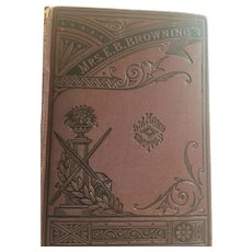 1860 'The Poetical Works of Elizabeth Barrett Browning' James Miller, Publisher, New York