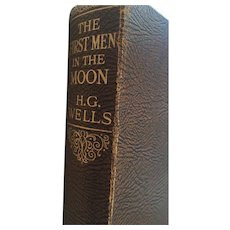 'The First Men on the Moon' Hard Cover Book by H.G Wells