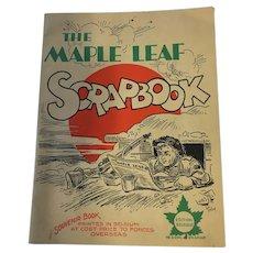 1944 WW-II 'The Maple Leaf Scrapbook Troop's Newspaper'