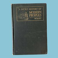 1924 'A Short History of Modern Peoples' by Mason West