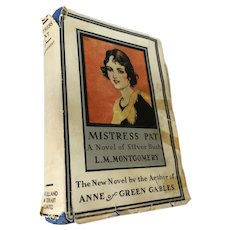 1935 'Mistress Pat' Hard Cover Book by Lucy Maude Montgomery