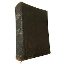 1903 'Nave's Topical Bible - A Digest of the Holy Scriptures' Leather Covered Book