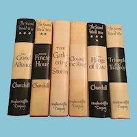 Nobel Prize Winning 1948-1953 First American Edition Six Volume Set by Winston S Churchill