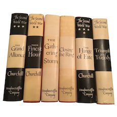 Nobel Prize Winning 1948-1953 First American Edition Six Volume Set by Winston S Churchill