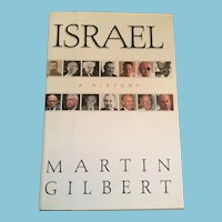 1998 First U.S. Edition 'Israel; A History' Hardcover Book with Dust Jacket