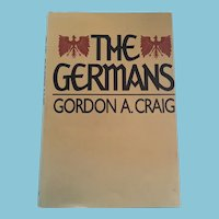 1982 First Edition 'The Germans' Hardcover Book and Dust Jacket