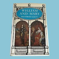 1973 First Edition 'William and Mary' Hardcover Book with Dust Jacket