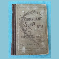 1892 'Triumph Sings, No. 3' Hardcover Song Book