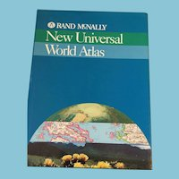 1995 Rand McNally 'New World Atlas' Hardcover Book with Dust Jacket
