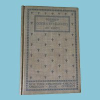 "1895 'Contes et Legendes, I Partie,"" Hardcover Book by H.A. Gerber"