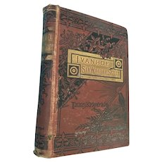 Circa 1830s  'Ivanhoe - A Romance' by Sir Walter Scott, Illustrated Hardcover Book