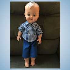 "1950s Flexible Vinyl 16"" 'Reliable Toy Company' Boy Doll"