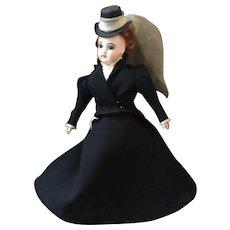 """Vintage 12"""" Artist Made Porcelain Fashion Doll"""