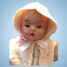 "1930-40s  16"" 'Magic Skin' Regal Composition Baby Doll"